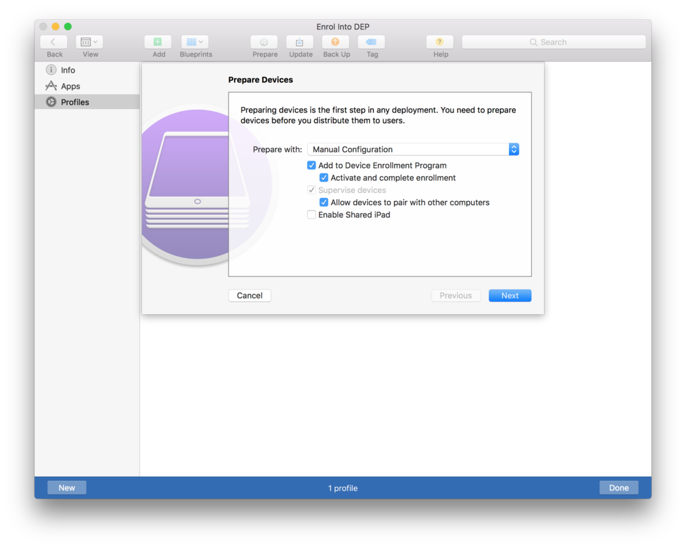 Adding iOS devices to DEP with Apple Configurator – Help Centre