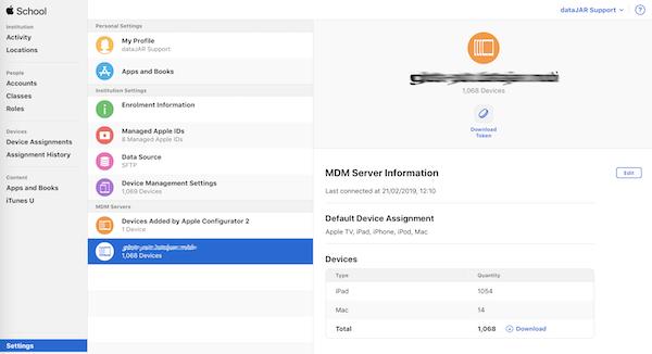 Renewing your DEP Token in Apple School/Apple Business Manager